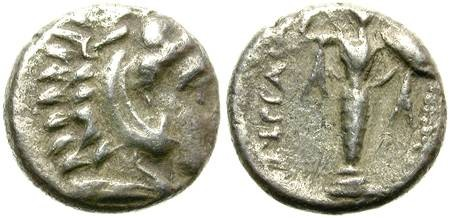 Ancient Coins - PERGAMON, MYSIA. SILVER DIOBOL. ATTRACTIVE, YET AFFORDABLE ISSUE