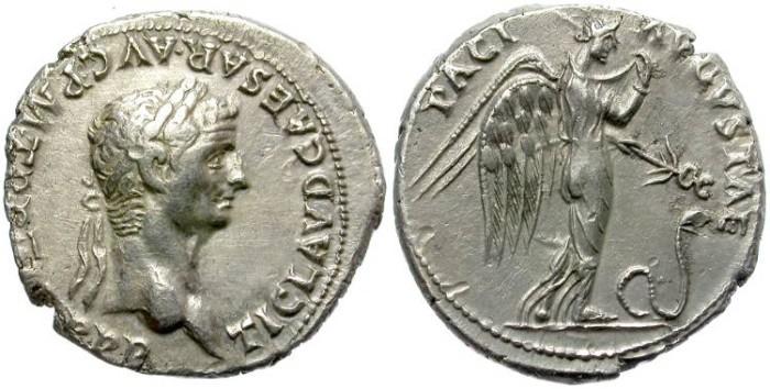 Ancient Coins - CLAUDIUS SILVER DENARIUS. NEMESIS REVERSE. OPORTUNITY.
