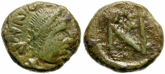 Ancient Coins - LEO  I.  457 - 474.  MINIATURE COPPER COIN RARE.