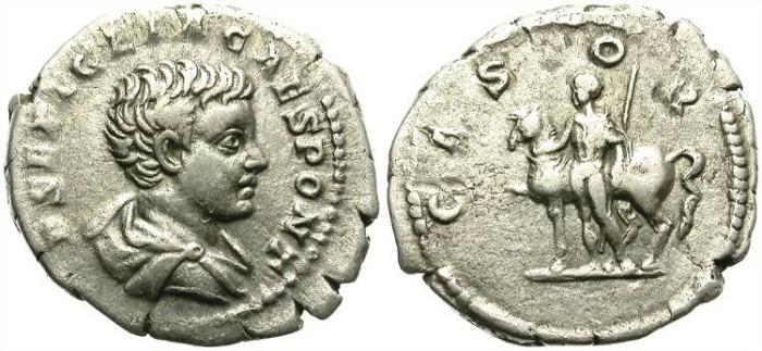 Ancient Coins - GETA. SILVER DENARIUS. CASTOR. SCARCE ISSUE. OPPORTUNITY /4