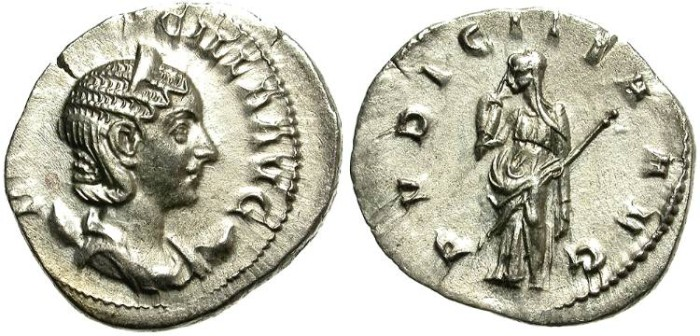 Ancient Coins - HERENNIA  ETRUSCILLA, 249 - 251 A.D. SILVER ANTONINIANUS. NICE PORTRAIT. OPPORTUNITY.