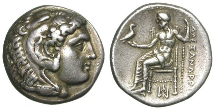 Ancient Coins - ALEXANDER THE GREAT. TETRADRACHM. A EF. MILET MINT. NICE PIECE !