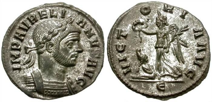 Ancient Coins - AURELIAN. AE DENARIUS. NICE CONDITION /2
