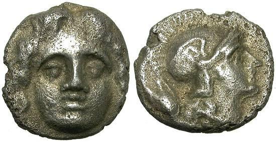 Ancient Coins - SELGE, PISIDIA.  TRIHEMIOBOL.  NICE MINIATURE.