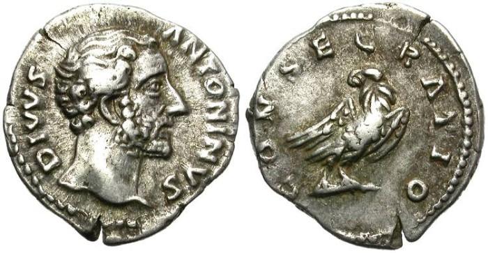 Ancient Coins - ANTONINUS PIUS.  SILVER DENARIUS.  ATTRACTIVE. OPPORTUNITY.