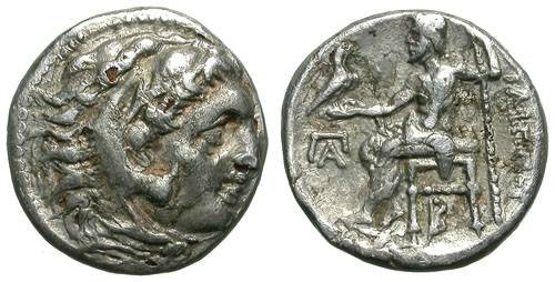Ancient Coins - PHILIP III AHRRIDEUS. FOUREE DRACHM (SILVER PLATED). NICE & INTERESTING !