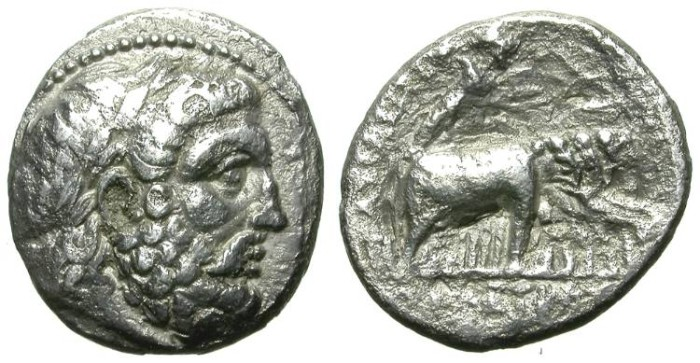 Ancient Coins - SELEUKOS I. FOUNDER OF THE SELEUKID EMPIRE. RARE DRACHM FROM SELEUKEIA. VF. ELEPHANT QUADRIGA !