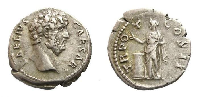 Ancient Coins - AELIUS  DENARIUS.  SCARCE.