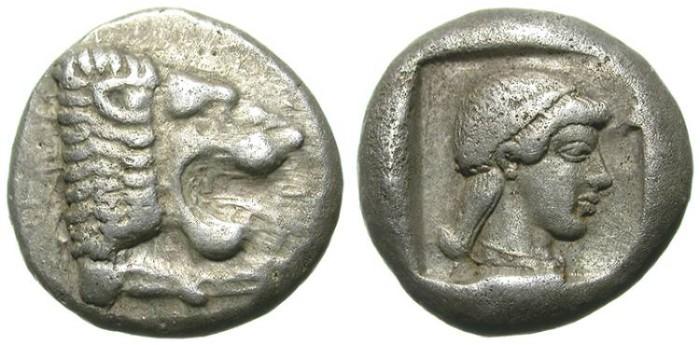 Ancient Coins - KNIDOS. DRACHM. BEAUTIFUL APHRODITA DEPICTION