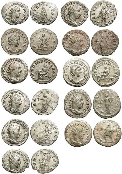 Ancient Coins - GROUP OF 11 AG ANTONINIAN. VERY ECONOMIC & AFFORDABLE /3