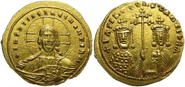 Ancient Coins - BASIL II AND CONSTANTINE VIII. GOLD SOLIDUS. BEAUTIFUL COIN. SPECTACULAR !!