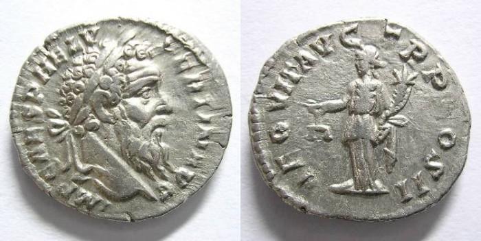 Ancient Coins - PERTINAX  DENARIUS.  R/ AEQUIT. AUG. TR. P. COS II . MAGNIFICENT  QUALITY.