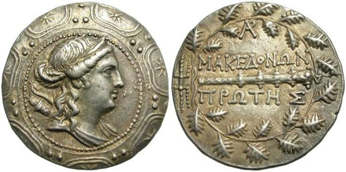 Ancient Coins - MACEDON. SILVER TETRADRACHM. AMPHIPOLIS. UNDER ROMAN RULE.