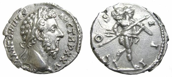 Ancient Coins - MARCUS  AURELIUS.  DENARIUS  GREAT  QUALITY.