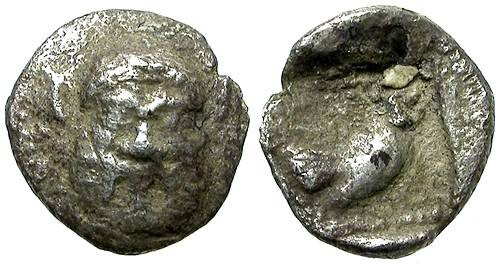 Ancient Coins - METHYMNA, LESBOS. TRITARTEMORION. EXTREMELY RARE.