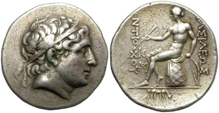 Ancient Coins - SELEUCID KINGDOM. ANTIOCHOS HIERAX. SILVER TETRADRACHM