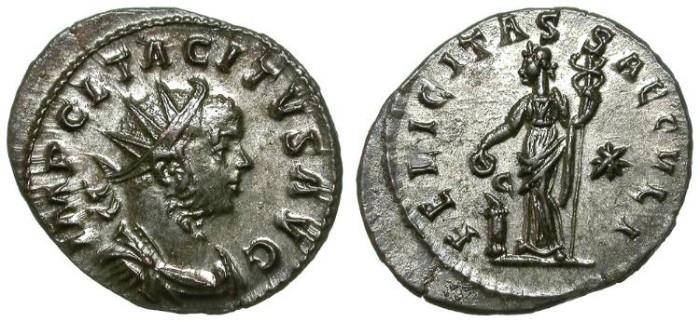 Ancient Coins - TACITUS. AE ANTONINIAN. LUGDUNUM. NICE ISSUE !
