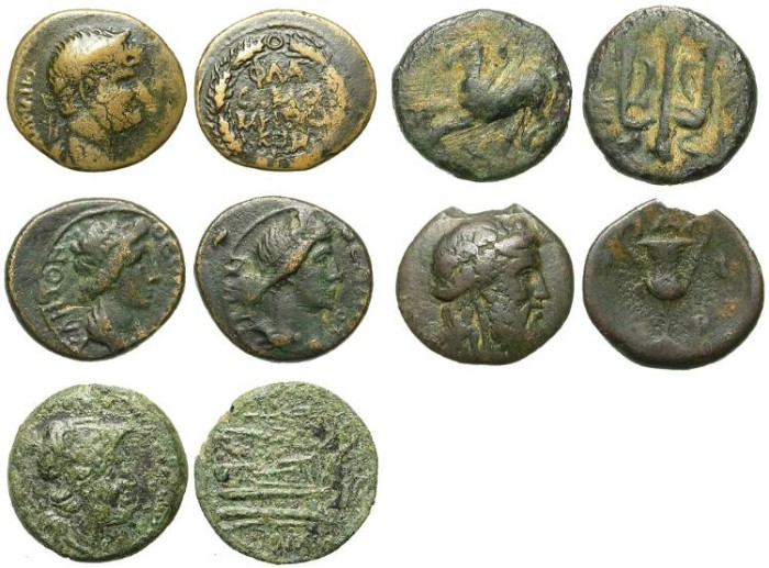Ancient Coins - LOT OF 5 DIFFERENT GREEK BRONZES. INTERESTING AND VERY AFFORDABLE /3