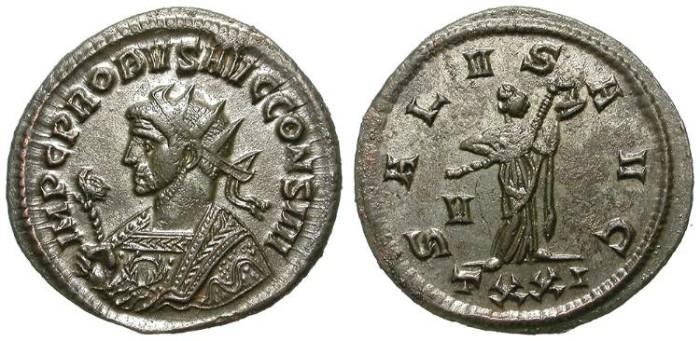 Ancient Coins - PROBUS. AE ANTONINIAN. TICINUM. RARE CONS IIII: ATTRACTIVE !