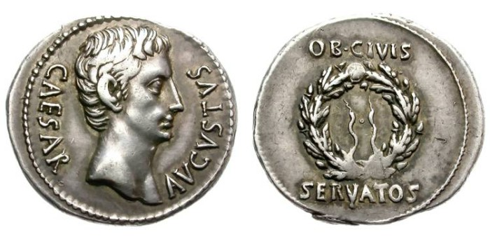 Ancient Coins - AUGUSTUS. SILVER DENARIUS. VERY BEAUTIFUL COIN !
