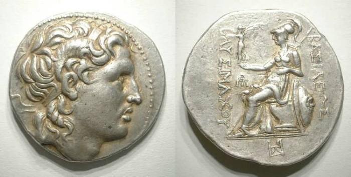 Ancient Coins - Lysimach. Tetradrachm. EF/Good VF. Very attractive