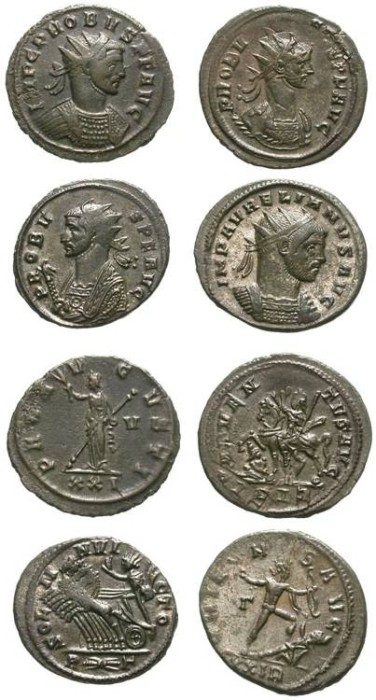 Ancient Coins - LOT OF 4 PROBUS AE ANTONINIAN. NICE CONDITION. INTERESTING