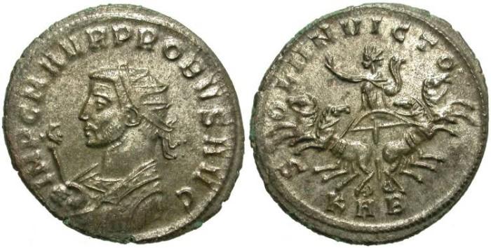 Ancient Coins - PROBUS. AE ANTONINIANUS. MOST  ORIGINAL SILVERING REMAINING. NICE