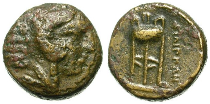 Ancient Coins - PHILIPPI. THICK BRONZE COIN. INTERESTING