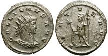 Ancient Coins - GALLIENUS. ANTONINIANUS. ANTIOCH. GOOD GENERAL CONDITION. FLAN-CRACK.
