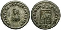 Ancient Coins - CONSTANTINE II.  AS CAESAR,AD 316-337. AE FOLLIS. HERACLEA MINT. ATTRACTIVE PORTRAIT.