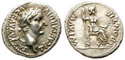 "Ancient Coins - TIBERIUS. AD 14-37. ""TRIBUTE PENNY"" SILVER DENARIUS. FANTASTIC CONDITION. /1"