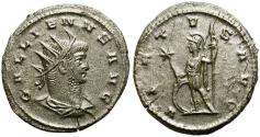 Ancient Coins - GALLIENUS. ANTONINIANUS. ANTIOCH. GOOD GENERAL CONDITION. FLAN-CRACK.