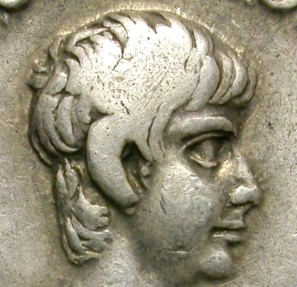 Ancient Coins - NERO AS CAESAR (UNDER CLAUDIUS). SILVER DENARIUS. NICE COIN FROM AN IMPORTANT PEDIGREED FINDING