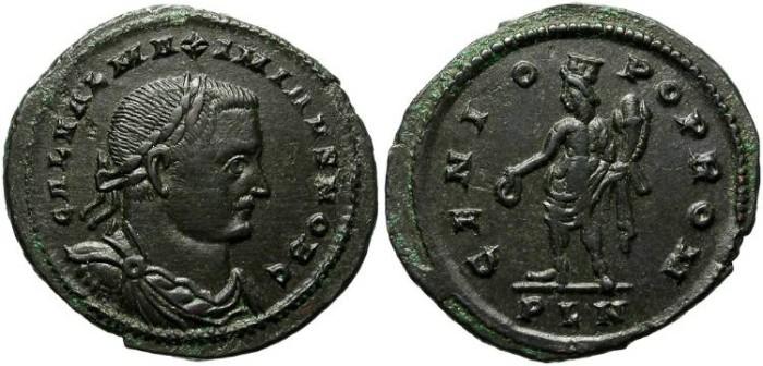 Ancient Coins - GALERIUS VALERIUS MAXIMINUS. FOLLIS. LONDON.