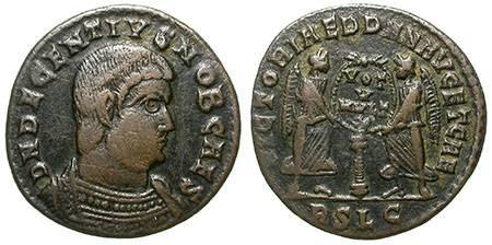 Ancient Coins - DECENTIUS. HALF MAIORINA. VF. SCARCE & NICE ISSUE