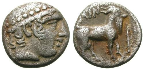 Ancient Coins - AINOS. DIOBOL. VF. NICE LITTLE RARE COIN ! Sample 4
