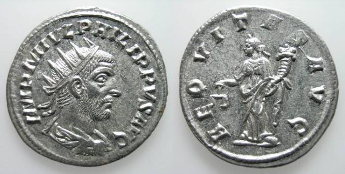 Ancient Coins - PHILIPPUS I AFRICAN. ANTIOQUIA. ANTONINIAN. LUSTROUS EF. WONDERFUL COIN !
