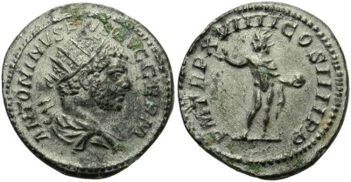 "Ancient Coins - VERY RARE ""LIMES"" ANTONINIANUS FROM CARACALLA. FASCINATING ANCIENT COUNTERFEIT"