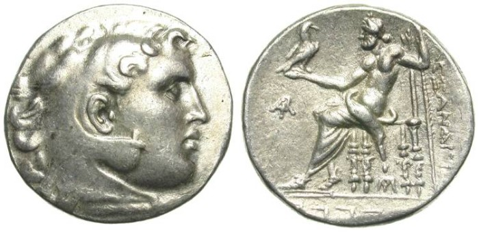 Ancient Coins - ALEXANDER THE GREAT. TETRADRACHM. MAGNESIA AD MEANDRUM. ATTRACTIVE !/2