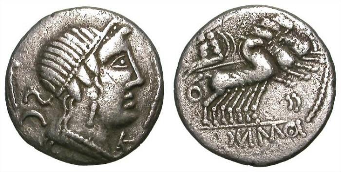 Ancient Coins - IMITATIVE REPUBLICAN DENAR. VF. FANTASTIC PIECE !