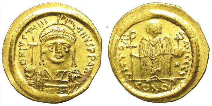 Ancient Coins - IUSTINIANUS. SOLIDUS. EF. SO NICE