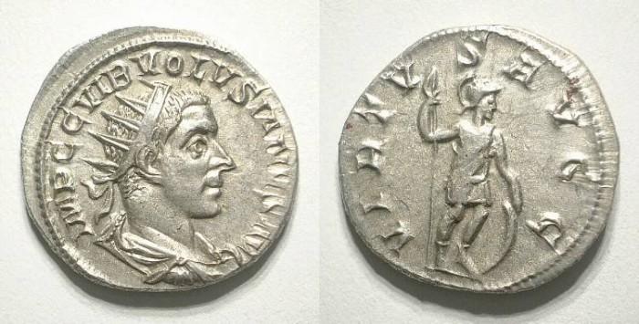 Ancient Coins - VOLUSIAN. ANTONINIAN. Nice EF. Fantastic portrait !
