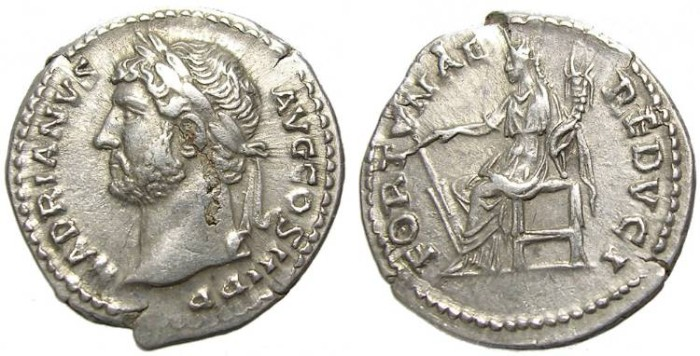 Ancient Coins - HADRIAN  DENARIUS . LEFTSIDE  PORTRAIT.