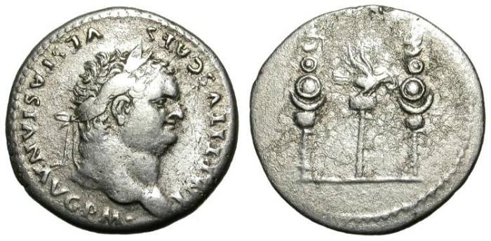 Ancient Coins - TITUS. CISTOPHORIC TETRADRACHM (3 DENARS). VF. GREAT PORTRAIT !