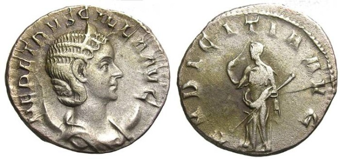 Ancient Coins - HERENNIA  ETRUSCILLA  ANTONINIANUS. GOOD  PORTRAIT.