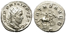 Ancient Coins - PHILIP I. AD 244-249. AR ANTONINIANUS. NICE BUST AND GOOD CONDITION/3