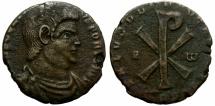 Ancient Coins - MAGNENTIUS. AD 350-353. AE CENTENIONAL.TREVERI. INTERESTING PORTRAITURE