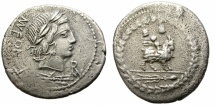 Ancient Coins - ROMAN REPUBLIC. FONTEIA_10. BC 85. SILVER DENARIUS. GOOD PRICE.