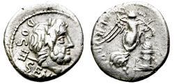 Ancient Coins - RUBRIA 4. QUINARIUS.  ROMAN REPUBLIC. NICE CONDITION. VERY ATTRACTIVE AT HANDS