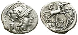 Ancient Coins - MARCIA. ROMAN REPUBLIC. DENARIUS. 82 BC. ATTRACTIVE STRIKE.